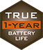 True one year battery life for all season scouting.